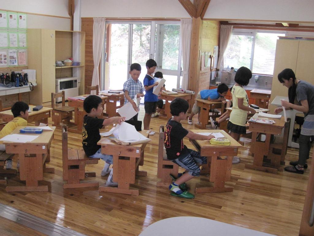 8/6 全校出校日 - 名倉小学校