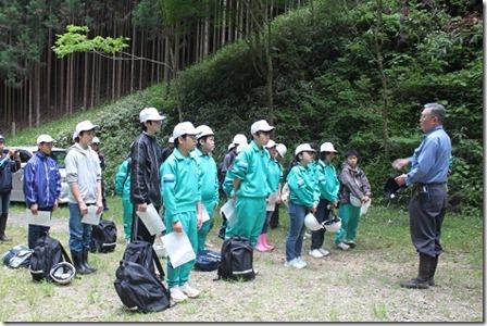 林業体験学習381