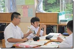 学校訪問 1年国語008